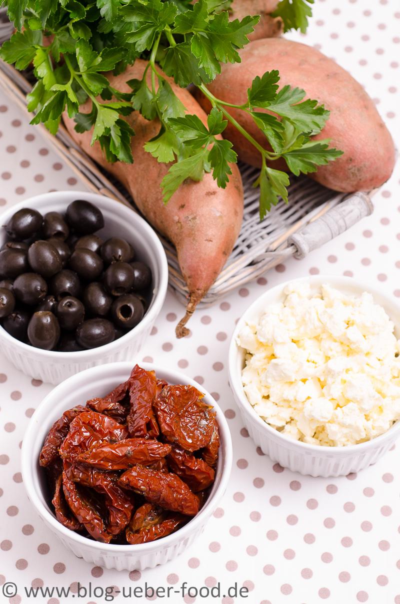 Zutaten für gefüllte Süsskartoffeln