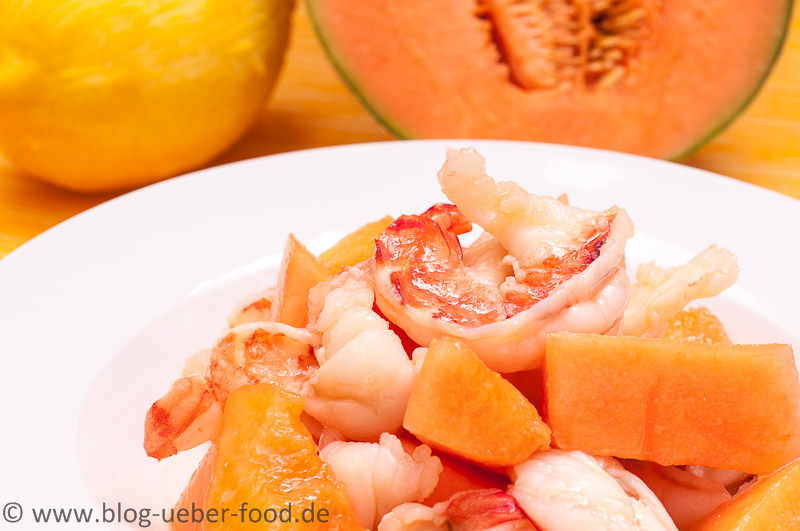 Garnelen mit Melone
