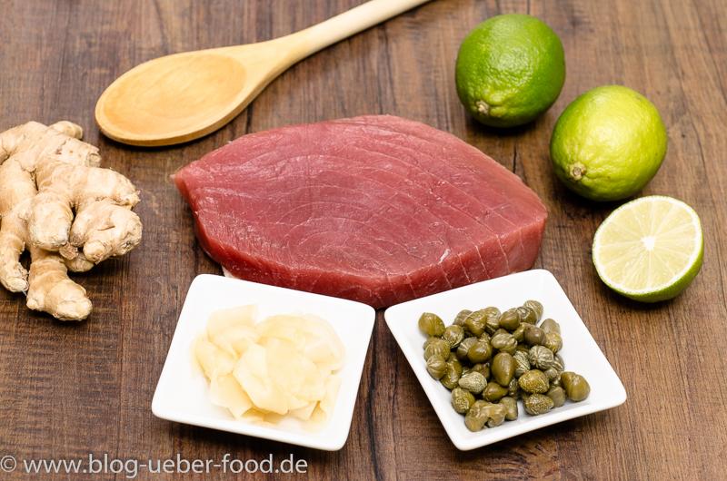 Zutaten für Tatar vom Thunfisch