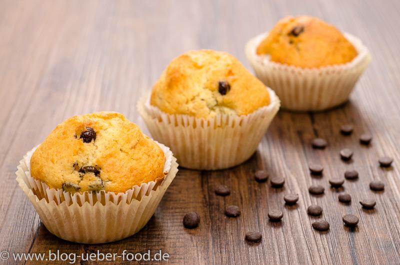 Muffins mit Banane und Schokolade